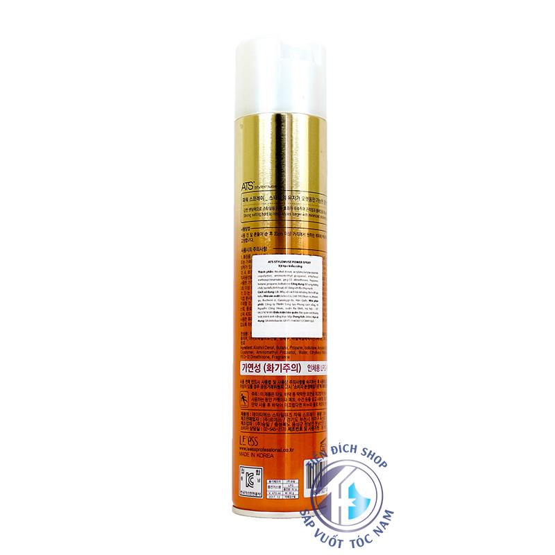 gôm xịt tóc ATS Power Spray 300ml chính hãng