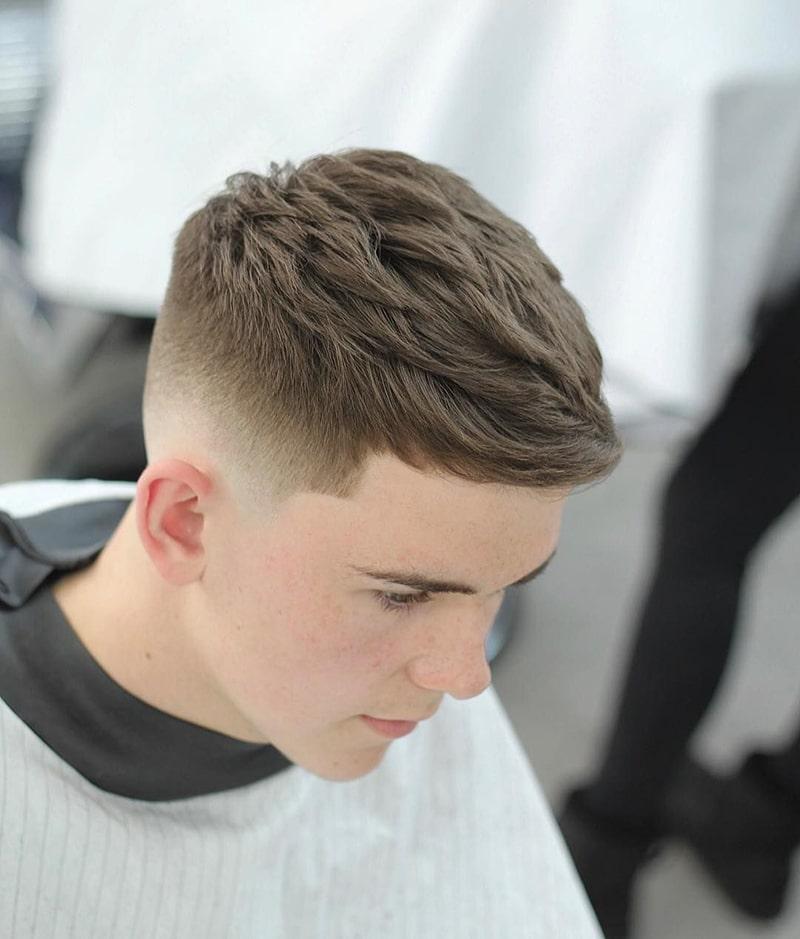 kiểu tóc nam textured 2020