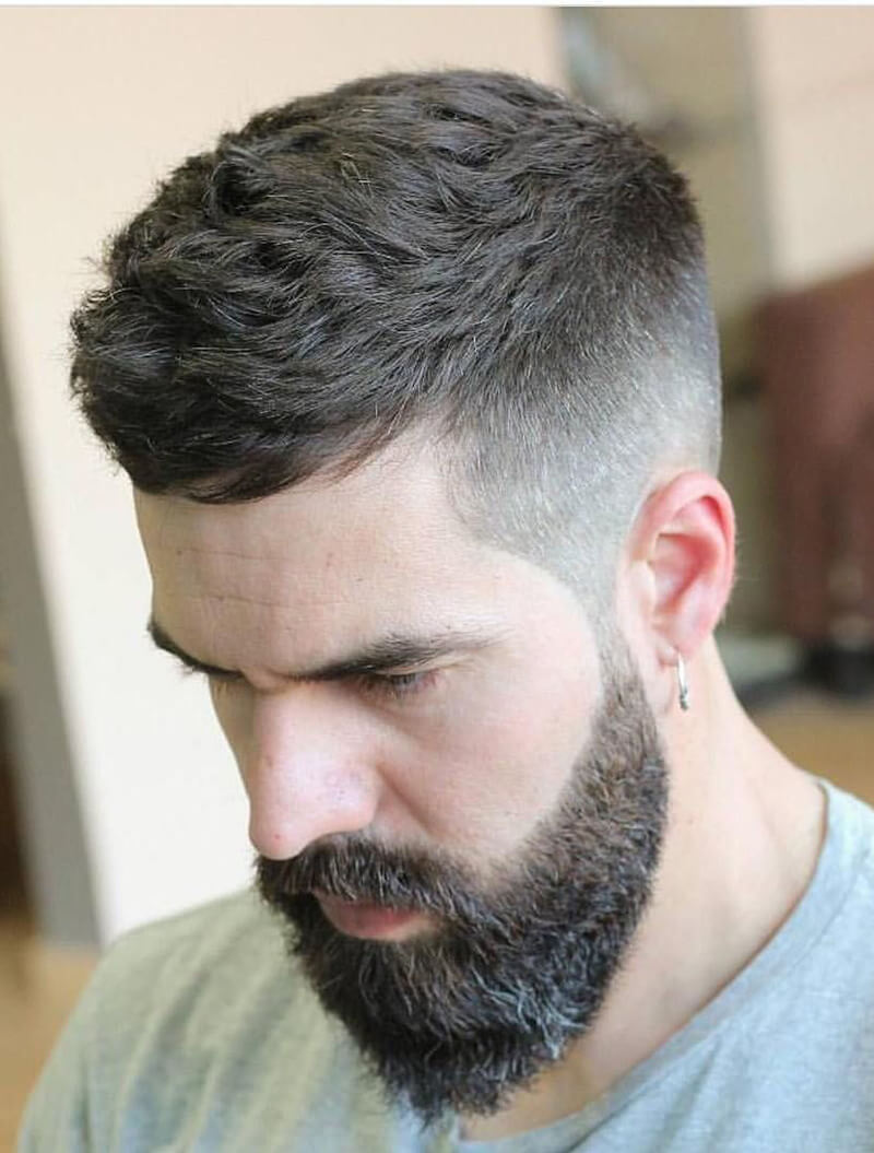 Short Haircut for Men + Mid Fade