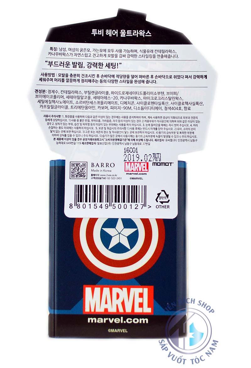 wax vuốt tóc 2Vee Ultra Wax Captain America