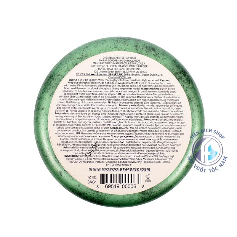 reuzel green pomade 340g