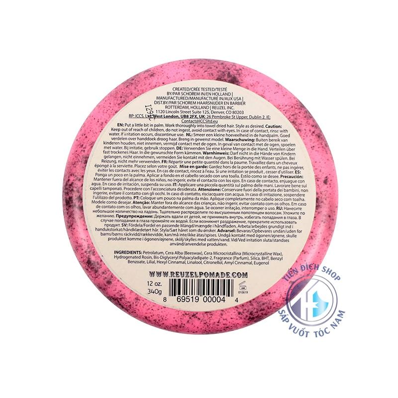 pomade gốc dầu reuzel pink 340g