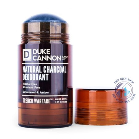 lăn nách Duke Cannon Natural Charcoal Deodorant Trench Warfare Sandalwood Amber