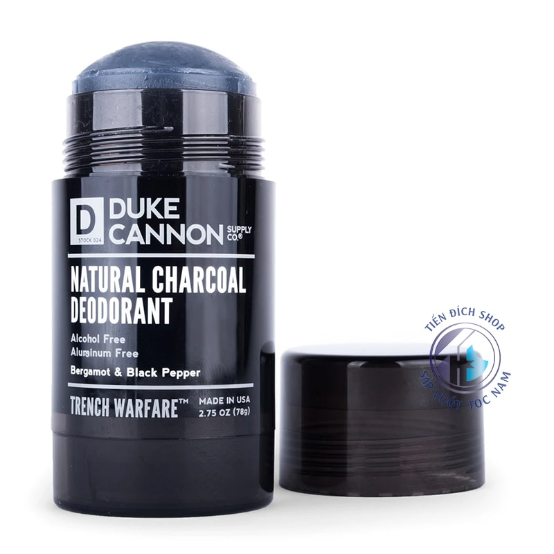 lăn nách Duke Cannon Natural Charcoal Deodorant Trench Warfare Bergamot & Black Pepper