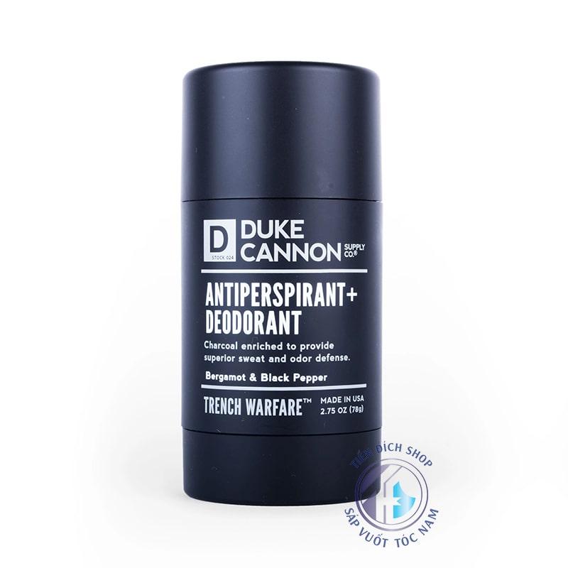 Duke Cannon Antiperspirant Deodorant Trench Warfare Bergamot & Black Pepper