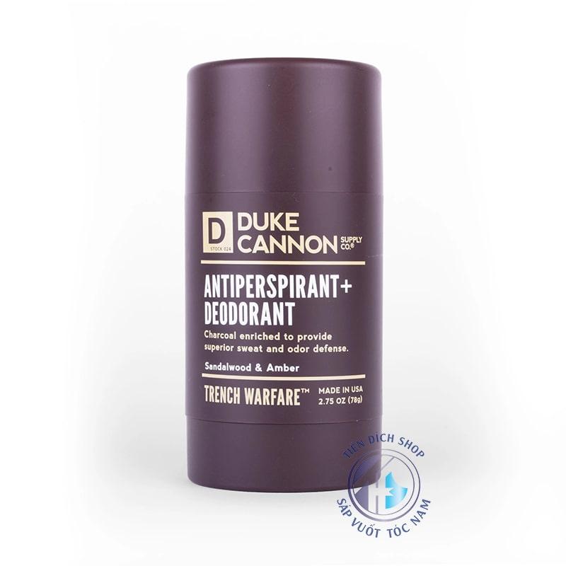 Duke Cannon Antiperspirant Deodorant Trench Warfare Sandalwood Amber