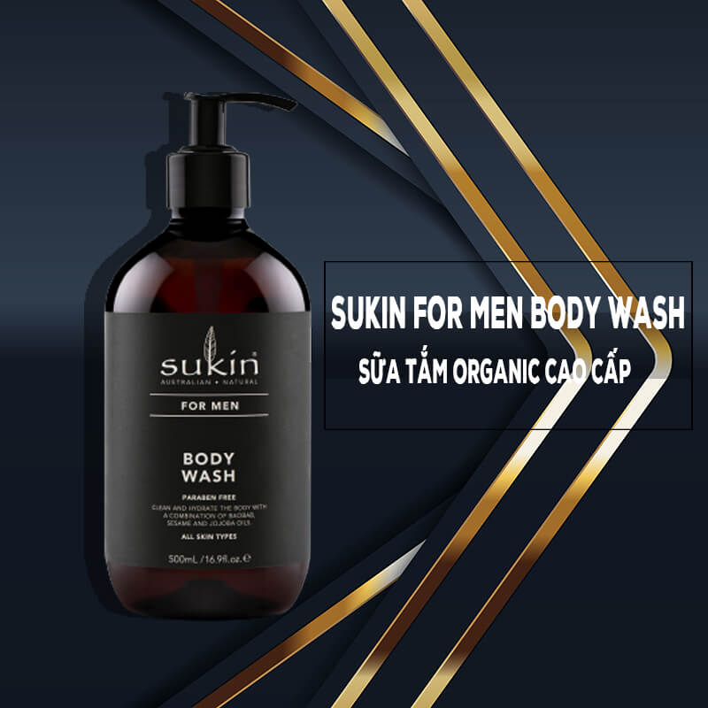 Sukin For Men Body Wash